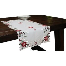 Festive Yule Embroidered Table Runner
