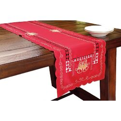 Bells Embroidered Cutwork Table Runner