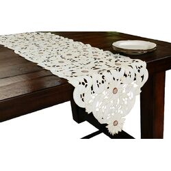 Sunflower Embroidered Cutwork Table Runner