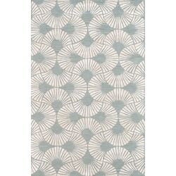 Hand-Knotted Silk and Wool Area Rug