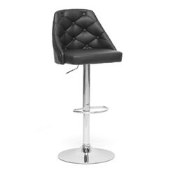 Baxton Studio Salzburg Modern Adjustable Height Swivel Bar Stool