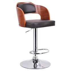 Baxton Studio Sitka Adjustable Height Swivel Bar Stool