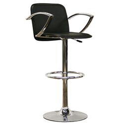 Baxton Studio Carmen Faux Leather Barstool in Black
