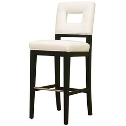 Meiji Leather Barstool in White
