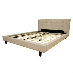 Baxton Studio Quincy King Platform Bed