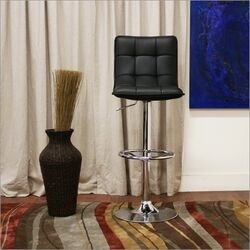 Baxton Studio Aleena Faux Leather Barstool in Black (Set of 2)