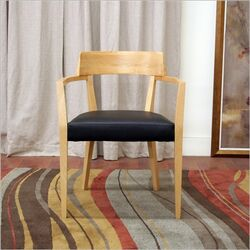 Baxton Studio Laine Modern Dining Chair in Light Honey
