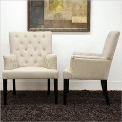 Baxton Studio Solana Arm Chair (Set of 2)