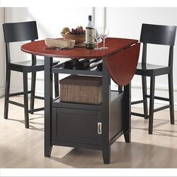 Baxton Studio Dayton 5 Piece Modern Drop Leaf Pub Table Dining Set