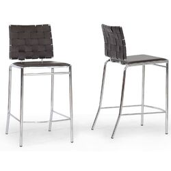 Baxton Studio Vittoria Bonded Leather Modern Counter Stool