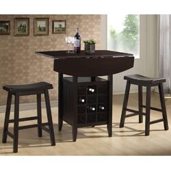 Baxton Studio Reynolds Modern Drop-Leaf Pub Set
