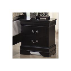 Baxton Studio Harrell 2 Drawer Nightstand