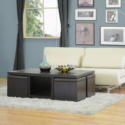 Baxton Studio Prescott 5 Piece Coffee Table Set