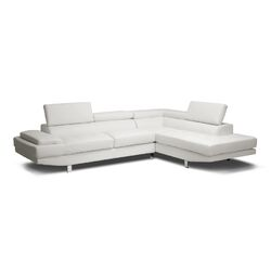 Baxton Studio Selma Leather Modern Sectional Sofa
