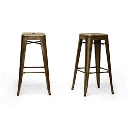 Baxton Studio French Industrial Stool