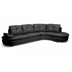 Baxton Studio Hilaria Leather Modern Sectional Sofa