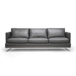 Baxton Studio Dakota Leather Sofa
