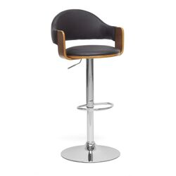 Baxton Studio Berne Adjustable Height Swivel Bar Stool