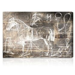 Horse Breaking Guide Graphic Canvas Art