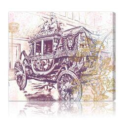 Charles X Carriage Graphic Art on Canvas