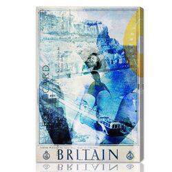 ''Britain'' Graphic Art on Canvas