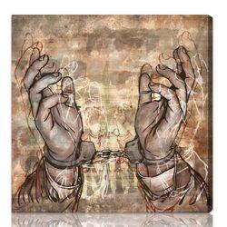 ''Criminal'' Graphic Art on Canvas
