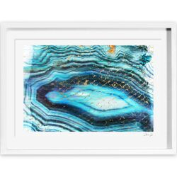 Sea of Turquoise Framed Painting Print