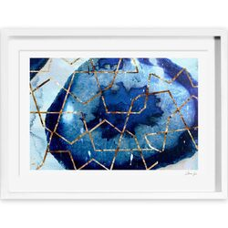 Raw Earth Blue Framed Painting Print