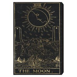 The Moon Tarot Painting Print on Canvas