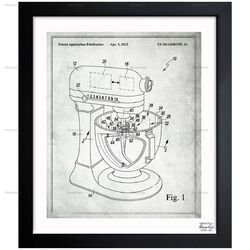 Stand Mixer Wiping Beater 2012 Framed Graphic Art