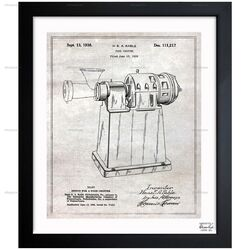 Design for a Food Chopper 1938 Framed Painting Print