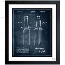 Design for a Beer Bottle 1934 Framed Painting Print