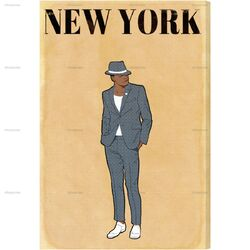 Esquire Gentleman Graphic Art on Canvas