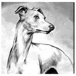 Hatcher and Ethan 'Galgo' Painting Print on Canvas