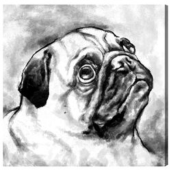 Hatcher and Ethan 'Pug' Painting Print on Canvas