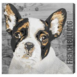 'Love My French Bulldog' Graphic Art on Canvas