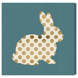 'Marshmallow Bunny' Graphic Art on Canvas