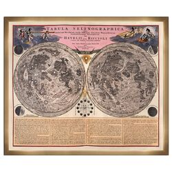The Art Cabinet 'Tabula Selenographica' Framed Graphic Art