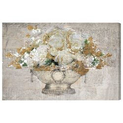 'Monaco Rose Ball' Painting Print on Wrapped Canvas