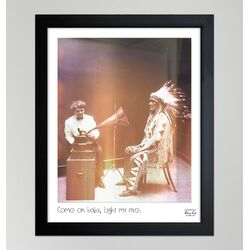 ''Light My Fire'' Framed Photographic Print