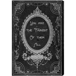 The Fairest Textual Canvas Art