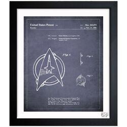 Starfleet Insignia 1981 Framed Graphic Art