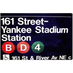 Yankee Stadium Textual Art on Canvas