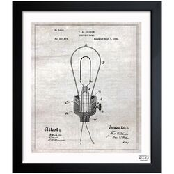 Edison Electric Lamp 1882 Framed Graphic Art