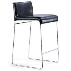 Nina Nauga Counter Stool in Black