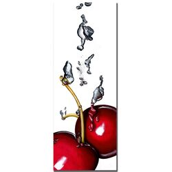 'Cherry Splash II' by Roderick Stevens Photographic Print on Canvas