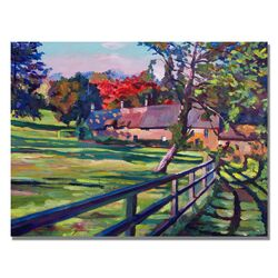 'Country House' by David Lloyd Glover Painting Print on Canvas
