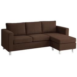Small Spaces Sectional Chaise Sofa