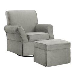 Kelcie Swivel Glider Chair & Ottoman Set