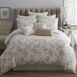 Oxidized Leaf 4 Piece Comforter Set